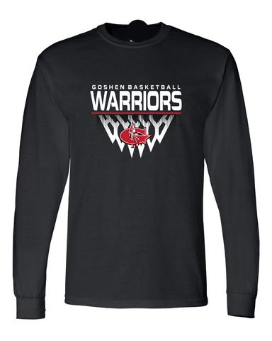 Warrior Basketball Faded Net Long Sleeve T-Shirt