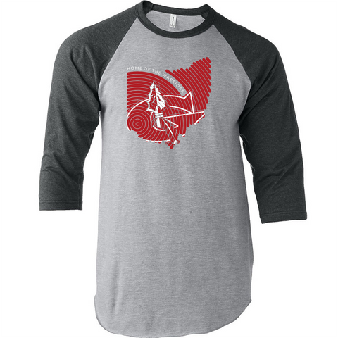 Goshen Warriors Thumbprint Design 3 3/4 sleeve Raglan