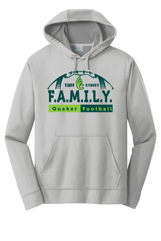 Wilmington College TUFFstreet FAMILY 100% poly Hoodie