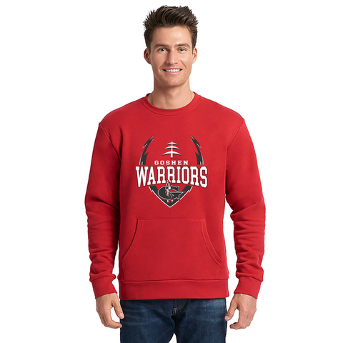 Goshen Warrior Big Logo Fball Crew neck With Pocket