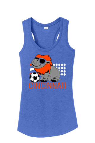 Hip Hip Hooray For Soccer Racerback Tank