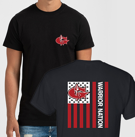 Goshen Warrior Nation Flag Tee