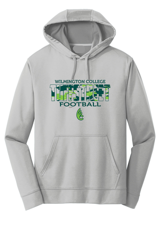 Wilmington College TUFFstreet Camo 100% poly Hoodie