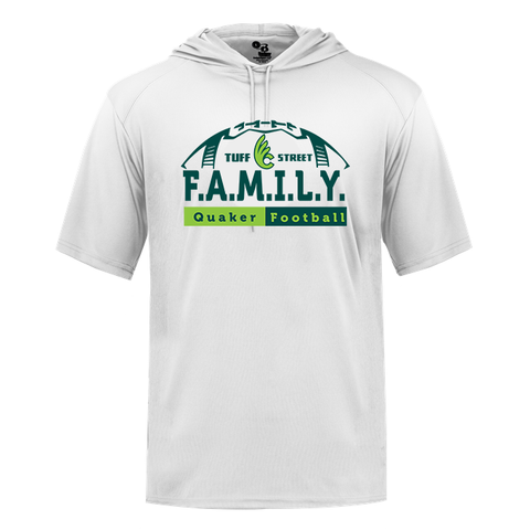 TUFFstreet FAMILY Short Sleeve Poly Hooded Tee
