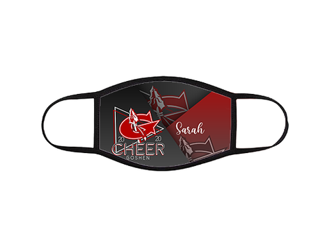 Goshen Cheer Fade Mask with Name