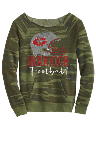 Warrior Football Ladies Camo scoop neck Sweatshirt