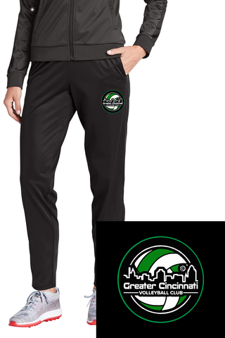 GCVC hip logo circle Ladies Performance Poly Open Bottom Sweatpants With Pockets