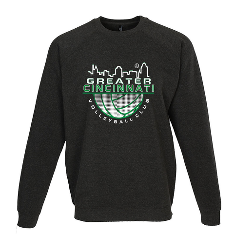 GCVC Faded Volleyball Crewneck
