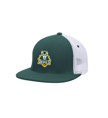 North Adams Embroidered Team Green Fitted Flexfit Hat