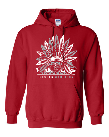 Goshen Warrior Vintage Warrior Feather Hoodie