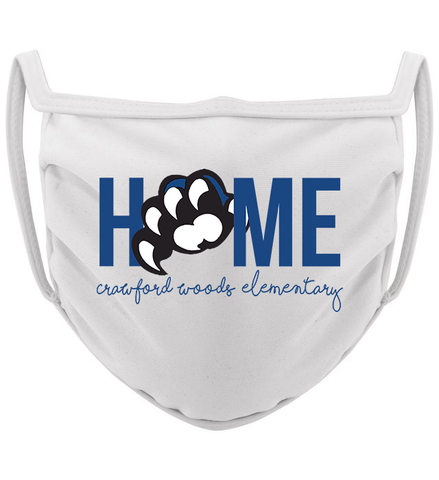 3-ply Crawford Woods Home Claw mask