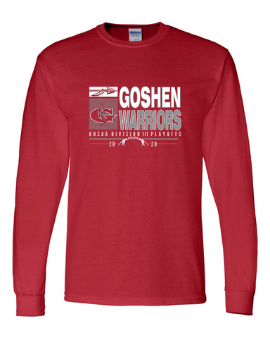 Goshen Warriors 2020 Playoff Long Sleeve Tees