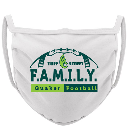 3-ply Wilmington Football FAMILY mask