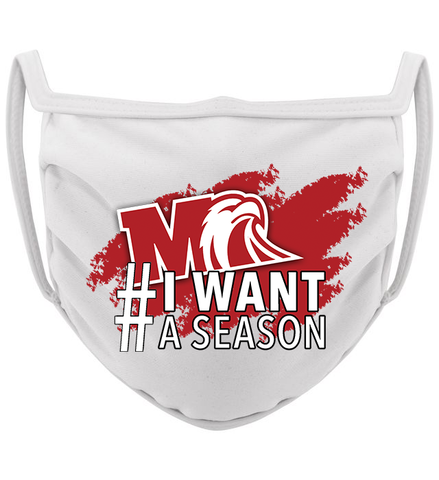 3-ply Milford I Wear this #IWantASeason mask