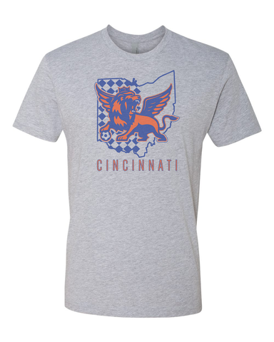 Orange and Blue State of Mind Tee!