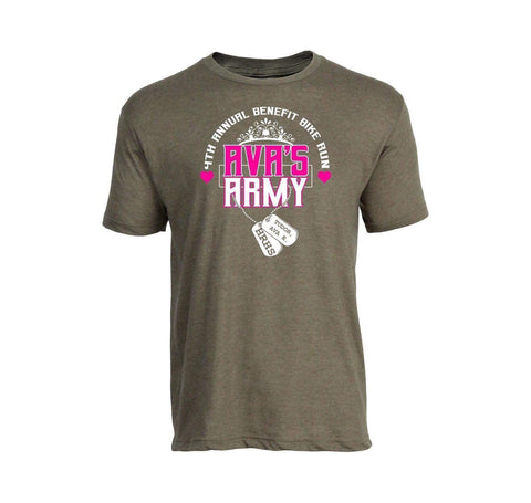 Ava's Army 4th Annual Benefit Bike Ride Official Tee!