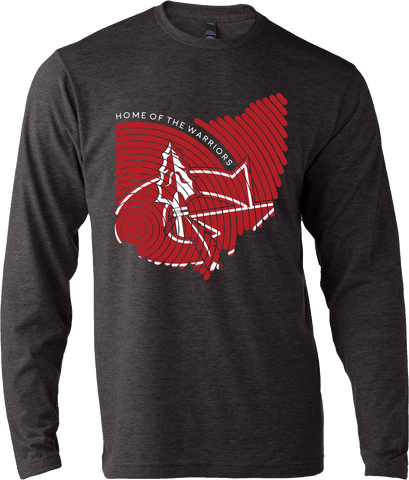 Goshen Warriors Thumbprint Design 3 Long Sleeve Tee