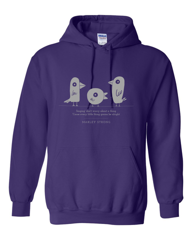 Marley Strong! Purple with Light Gray Hoodie