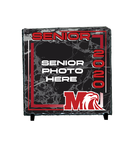 Milford Senior 2020 Slate Stone plaque with Photo and stand