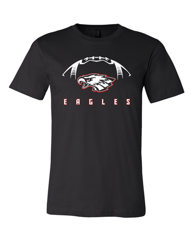 Milford Eagles Football Tee with Custom Name/Number