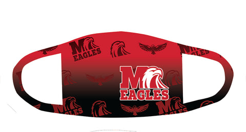 Milford Eagles Small and big Logo Fade Mask