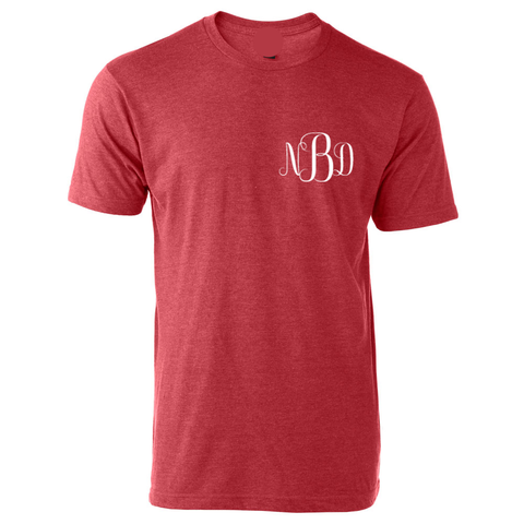 Goshen Warrior Cheer Tee with Monogram Front