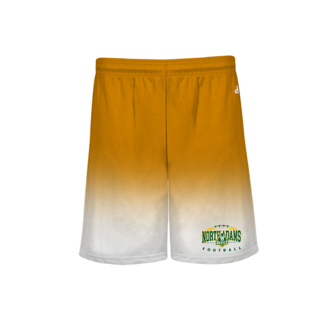 North Adams Football Design 2 Ombre Youth Shorts