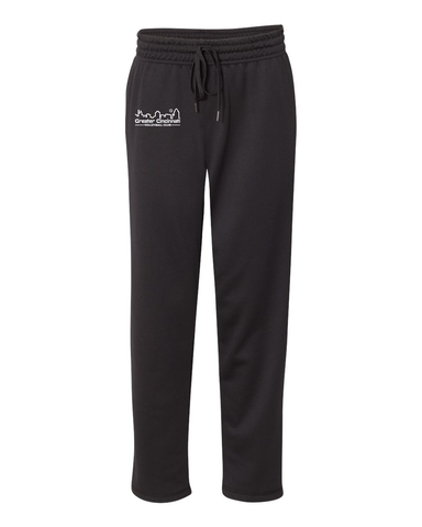 GCVC Performance Poly Open Bottom Sweatpants With Pockets