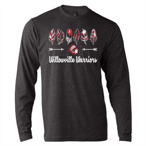Willowville Warriors Design 1 Long Sleeve Tee