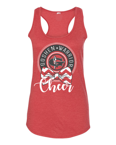 Warrior Cheer Racerback Tank (Adult Sizing only)