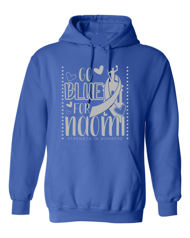 Go BLUE for Naomi Hooded Sweatshirt