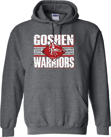 Goshen Warriors Vintage Diamond Design 2 Hoodie