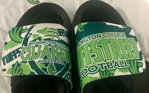 Wilmington College TUFFStreet Memory Foam Slide Sandals(with optional customized number)