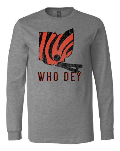 Who Dey State Long Sleeve Tee