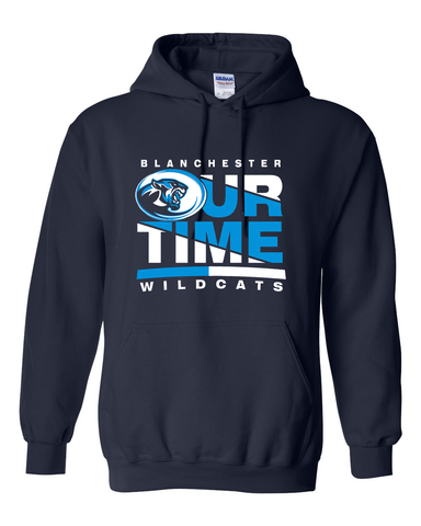 Blanchester Wildcats Our Time Football Hoodie
