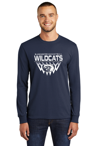 Blanchester Wildcats Youth Basketball Long Sleeve Tee