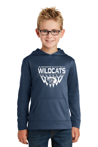 Blanchester Youth Basketball Poly Hoodie