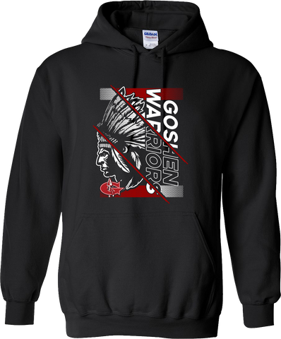 Goshen Warriors Giant Logo Design 4  Hoodie