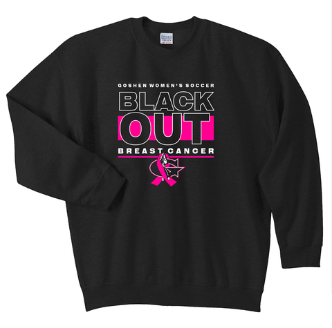 Black Out Breast Cancer Crewneck
