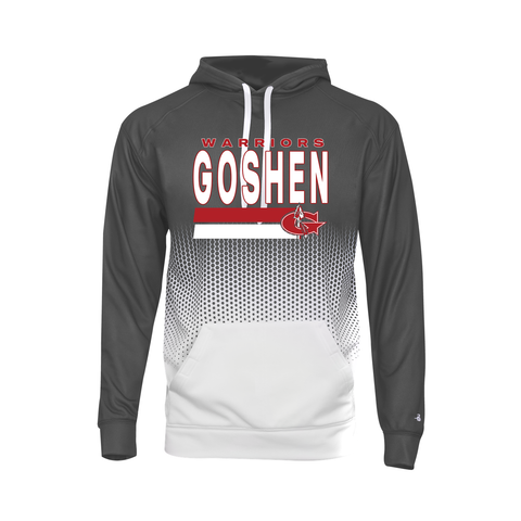 Goshen Warriors Hex Ombre Poly Hoodie
