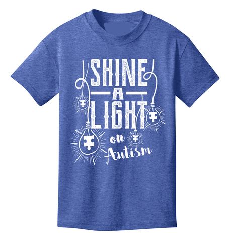 Shine a Light on Autism Awareness Youth T-Shirt