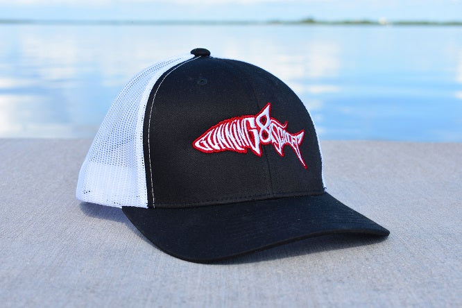 32c0160ba90 ... University of Georgia UGA Bulldogs Tarpon Fishing Trucker Hat Snapback  Gunning   Scales ...