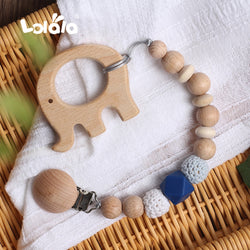 Natural Wooden Cartoon Teether
