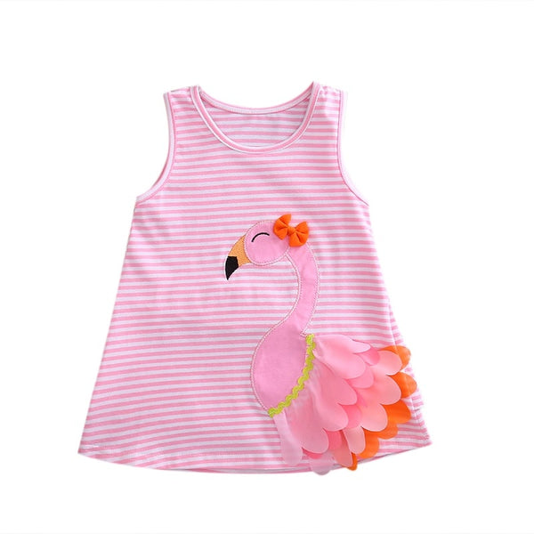 Baby Girls Sleeveless Pink Dress