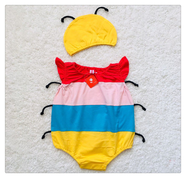 Summer Style Sleeveless Baby Rompers