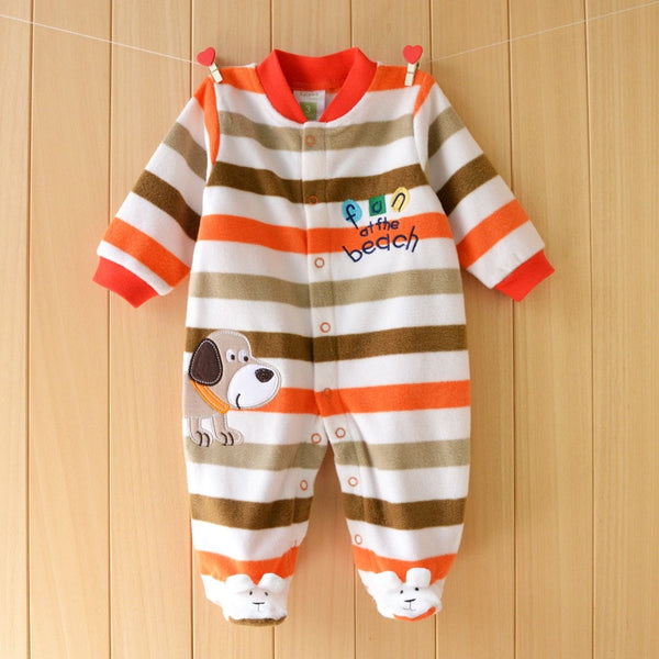 Newborn Fleece Baby Rompers