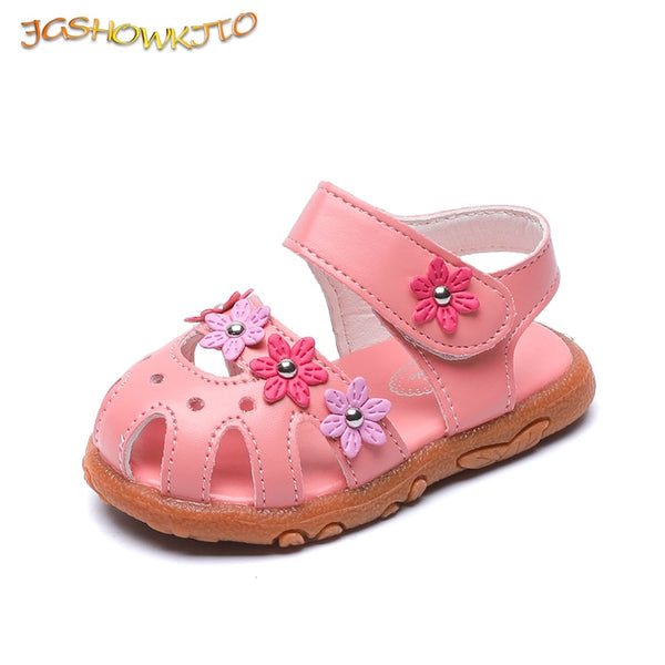 Girls flotal sandals