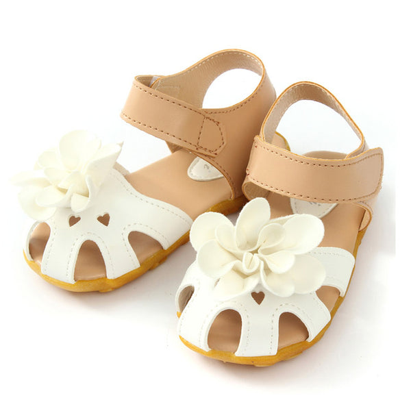 ff11b3b5a71d6 2016 New Arrival Summer Cool Baby Girls Sandals Shoes Skidproof Toddlers  Infant Children Kids Flower Shoes PU Leather Size 21-30