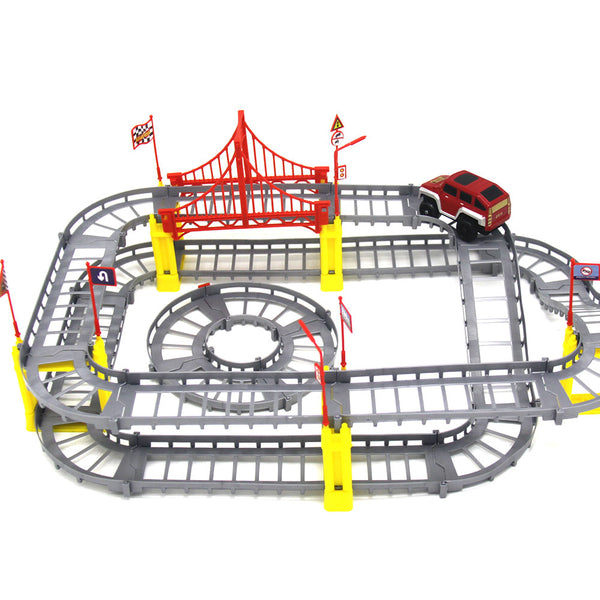 Electric Rail Car Puzzle Toy