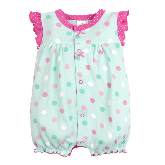 2d24d7e13b7dfc Baby Rompers Summer Baby Girls Clothing Cartoon Newborn Baby Clothes Roupas  Bebe Short Sleeve Baby Girl Clothes Infant Jumpsuits